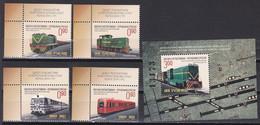 Bosnien Herzegowina (Serbische Republik) 2011 - Mi.Nr. 542 - 545 + Bl. 25  - Postfrisch MNH - Lokomotiven Locomotive - Trains
