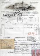 67 - Bas-rhin - STRASBOURG - Facture BECKER - Grands Moulins De La Ganzau - 1953 - REF 175A - 1900 – 1949