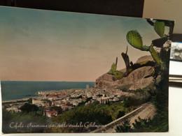 Cartolina  Cefalù Panorama Da Gibilmanna Prov Palermo Cactus 1952 - Palermo