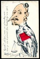 Cpa Illustrateur Politique Satirique Signée Lesieur  -- Justice - Bavard Comme Une Pie  NOV20-28 - Satira