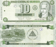 NICARAGUA 10 Cordobas 2002 P 191 UNC - Nicaragua