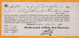 1849 - Postbeleg - Reçu Postal - Wurtenberg - Bensheim - Munich - Wurtemberg