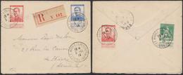 """Pellens - N°110, 123 X2 Et 125 Sur Lettre En Recommandé + Obl """"Le Havre (spécial)"""" > Le Havre (1914) - 1912 Pellens"""