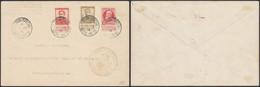 """Pellens - N°112, 118 + N°74 Sur Lettre """"Gouvernement Belge"""" Obl Le Havre (spécial) > Ste-Adresse / Ministère - 1912 Pellens"""
