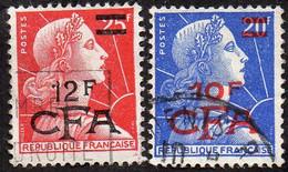 Réunion Obl. N° 337 Et 337A - Marianne De Muller Surchargés - Gebruikt
