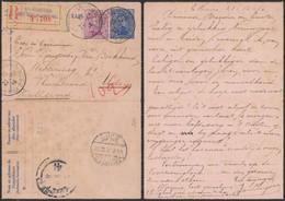 EP Au Type Carte-lettre 25ctm Bleu + N°140 En R De Ste-Adresse / Poste Belge > Uden (Hollande) Via London. - Carte-Lettere