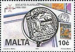 Ref. 164308 * NEW *  - MALTA . 1991. 25TH ANNIVERSARY OF THE PHILATELIC SOCIETY OF MALT. 25 ANIVERSARIO DE LA SOCIEDAD - Malta