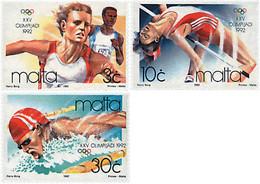Ref. 67614 * NEW *  - MALTA . 1992. GAMES OF THE XXV OLYMPIAD. BARCELONA 1992. 25 JUEGOS OLIMPICOS VERANO BARCELONA 1992 - Malta