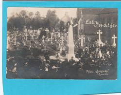 ESTRY 24 OCTOBRE 1920 CIMETIERE PHOTO MAIGNAN - Andere Gemeenten