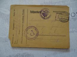 Carte D'un Prisonnier Français 1914-1918 Du Camp De Strasburg Frontière Polonaise - 1914-18