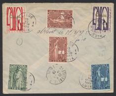 Première Orval - N°258/262 (n°261 X2) Au Verso D'une Lettre En R De Liège / Luik (1929) > St-Etienne (France) - Storia Postale
