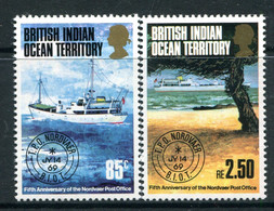 British Indian Ocean Territory 1974 5th Anniversary Of Nordvaer Travelling Post Office Set MNH (SG 56-57) - British Indian Ocean Territory (BIOT)