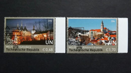 UNO-Wien 925/6 Oo/ESST, UNESCO-Welterbe: Tschechische Republik - Gebraucht