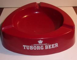 Grand Cendrier Vintage En Mélamine Tuborg Beer - - Otros