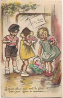 Germaine BOURET -- J'veux Celui Qui Sent Le Plus Bon Pour Offrir à Maman - Collages ,Paillettes - Bouret, Germaine