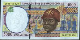 ♛ CENTRAL AFRICAN STATES - 5.000 Francs 2000 {Gabon} AU-UNC P.404 Lf - Gabon