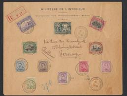 émission 1915 - N°135/146 Sur Grande Env. En R De Ste-Adresse / Poste Belge (1916) > Ternuzen (Hollande) / Pli + Censure - 1915-1920 Alberto I