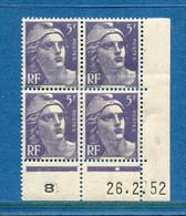 ⭐ France - YT N° 883 ** - Neuf Sans Charnière - Coin Daté - 1951 ⭐ - 1950-1959