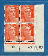 ⭐ France - YT N° 885 ** - Neuf Sans Charnière - Coin Daté - 1951 ⭐ - 1950-1959