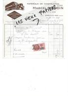 80 - Somme - EPPEVILLE-HAM - Facture BOISDIN - Matériaux De Construction, Transports, Déménagements - 1937 - REF 175A - 1800 – 1899