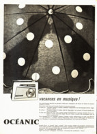 "PUB TRANSISTOR    "" CROISIERE ""  De  ( OCEANIC ) 1960 ( 1 ) - Altri"