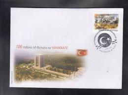 REPUBLIC OF MACEDONIA, 2015, FDC, MICHEL 724 - 100 Years BATTLLE OF CANAKKALE, GALLIPOLI, TURKEY + - Mazedonien