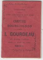 Indicateur Régionale (Bourgogne) Des Chemins De Fer De 1908 - Nevers Auxerre Laroche Sens Lyon Joigny Toucy Avallon - Europe