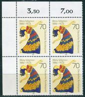 A14-13-9) BRD - 4x Mi 1301 ECKE LIO - ** Postfrisch - 70Pf   Mary Wigman - Unused Stamps