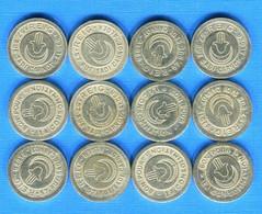 Algerie  12  Pieces  Jetons - Monetari / Di Necessità