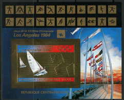 1982Central African Republic860/B200b Gold1984 Olympic Games In Los Angeles 32,00 € - Summer 1984: Los Angeles