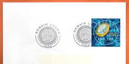 MAURY N° 3381 DEMAIN L' EURO  PARIS  Lettre Entière N° GH 606 - 1961-....