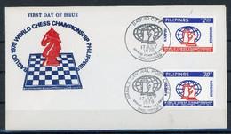 Philippines 1978 Chess Echecs FDC - Schach