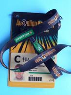 AUSTRALIAN OPEN - Athlete OLIVIER ROCHUS Belgium / Accreditation CARD ( Heineken ) With ORIGINAL Lanyard / Cordon ! - Altri