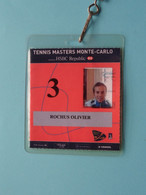 TENNIS MASTERS MONTE-CARLO : OLIVIER ROCHUS Belgium / Accreditation CARD / With ORIGINAL Lanyard / Cordon ! - Altri