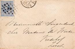 19 JUN 1877 Envelopje Van 'sGravenhage Met Punt 44 Naar Zoest Via BAARN - Storia Postale