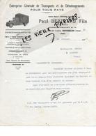 86 - Vienne - MONTMORILLON - Facture BERTRAND - Transports Et Déménagements - 1939 - REF 175C - 1900 – 1949