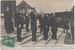 75 PARIS Réception Du Roi De Norvège 28 Mai 1907 M Fallières , M Mollard Sur Le Perron Des Invalides - Other