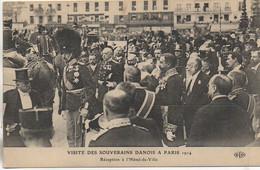 75 PARIS Visite Des Souverains Danois A Paris 1914  Réception à L'Hôtel De Ville - Sonstige
