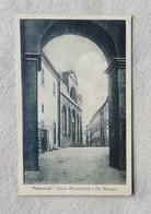 Cartolina Illustrata Pomarance - Chiesa Monumentale E Via Mascagni Viaggiata Per Siena 1923 - Andere Städte
