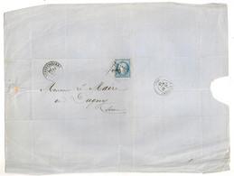 LETTRE DE AUBERVILLIERS A MAIRE DE DUGNY /  CACHET AUBERVILLIERS / CACHET LE BOURGET  C1697 - 1849-1876: Periodo Clásico