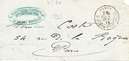 Paris Lettre Rue Saint Dom 25-10-1871 - 1849-1876: Periodo Classico