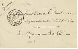 Paris Lettre Rue Saint Dom 17-09-1874 Pour Le Mans - 1849-1876: Periodo Classico
