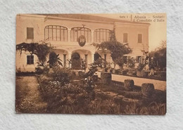 Cartolina Postale Scutari - Il Consolato D'Italia, Viaggiata Da S. Domenico Di Fiesole Per Firenze 1911 - Albania