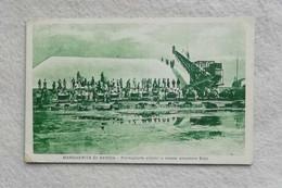 Cartolina Illustrata Margherita Di Savoia - Formazione Prismi A Mezzo Elevatore Eolo, Viaggiata Per Novara 1942 - Altre Città
