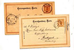 Carte Postale2 Empereur Cachet Volkermarkt Cilli + Berlin - Interi Postali