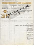 93 - Seine-st-denis - SEVRAN - Facture VAN MALDEREN - Peinture, Matériaux - 1942 - REF 175C - 1900 – 1949
