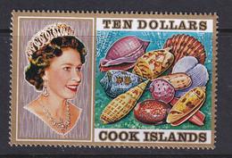 Cook Is: 1974/75   QE II - Seashells    SG487    $10   MNH - Cook Islands