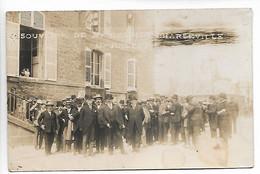 CHARLEVILLE Ardennes Carte Photo Visite De Mr HERRIOT 1er Juillet 1925  2 Scans ...G - Charleville