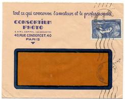 France N° 388 Y. Et T. Empreinte Krag Paris Du 29/06/1938 - 1921-1960: Modern Period