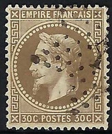 FRANCE 1867: Le Y&T 30, TB Obl. Etoile 1 - 1863-1870 Napoleon III With Laurels